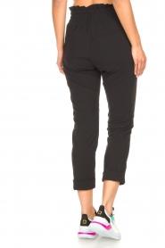 D-ETOILES CASIOPE | High waist travelwear broek Aqua | zwart   | Afbeelding 7
