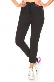 D-ETOILES CASIOPE | High waist travelwear broek Aqua | zwart   | Afbeelding 4