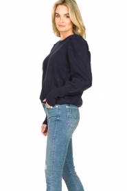 Lolly's Laundry |  Sweater with puff sleeves Priscilla | dark blue  | Picture 5
