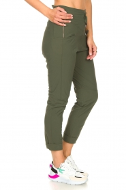D-ETOILES CASIOPE |  High waist travelwear pants Aqua | green  | Picture 5