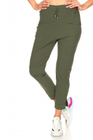 D-ETOILES CASIOPE |  High waist travelwear pants Aqua | green  | Picture 4