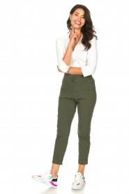 D-ETOILES CASIOPE |  High waist travelwear pants Aqua | green  | Picture 3