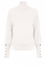 Dante 6 |  Turtleneck with buttons Quentin | white  | Picture 1
