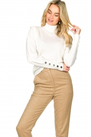 Dante 6 |  Turtleneck with buttons Quentin | white  | Picture 4
