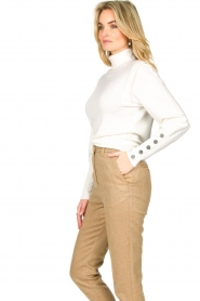 Dante 6 |  Turtleneck with buttons Quentin | white  | Picture 5