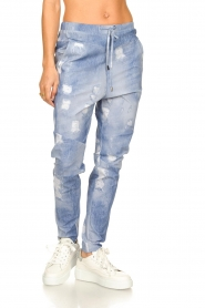 D-ETOILES CASIOPE |  Travelwear printed pants Alba | blue  | Picture 5