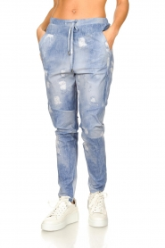 D-ETOILES CASIOPE |  Travelwear printed pants Alba | blue  | Picture 4