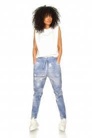 D-ETOILES CASIOPE |  Travelwear printed pants Alba | blue  | Picture 3