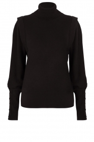 Dante 6 |  Turtleneck with buttons Quentin | black  | Picture 1