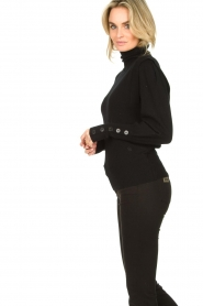 Dante 6 |  Turtleneck with buttons Quentin | black  | Picture 5