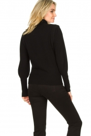 Dante 6 |  Turtleneck with buttons Quentin | black  | Picture 6
