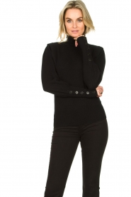 Dante 6 |  Turtleneck with buttons Quentin | black  | Picture 2