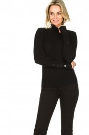 Dante 6 |  Turtleneck with buttons Quentin | black  | Picture 4