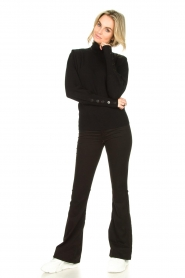 Dante 6 |  Turtleneck with buttons Quentin | black  | Picture 3