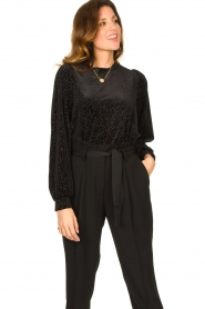 Second Female | Sweater with lurex Nancy | black  | Picture 4