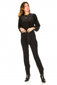 Second Female | Sweater with lurex Nancy | black  | Picture 3