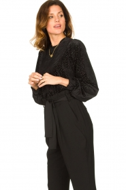 Second Female | Sweater with lurex Nancy | black  | Picture 2