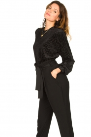 Second Female | Sweater with lurex Nancy | black  | Picture 5