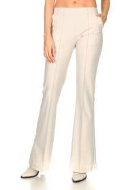 D-ETOILES CASIOPE |  Travelwear flared pants Rodez | natural  | Picture 5
