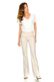 D-ETOILES CASIOPE |  Travelwear flared pants Rodez | natural  | Picture 3