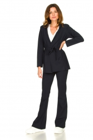 D-ETOILES CASIOPE    Travelwear blazer with belt Anais   blue    Picture 3