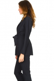 D-ETOILES CASIOPE |  Travelwear blazer with belt Anais | blue  | Picture 7