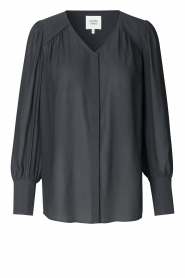 Second Female |  Blouse with puff sleeves Sicily | black  | Picture 1