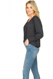 Second Female |  Blouse with puff sleeves Sicily | black  | Picture 4