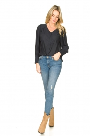 Second Female |  Blouse with puff sleeves Sicily | black  | Picture 3