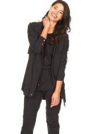 D-ETOILES CASIOPE | Travelwear parka Avocat | zwart   | Afbeelding 5