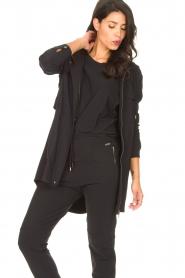 D-ETOILES CASIOPE | Travelwear parka Avocat | zwart   | Afbeelding 4