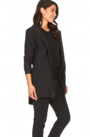 D-ETOILES CASIOPE | Travelwear parka Avocat | zwart   | Afbeelding 6