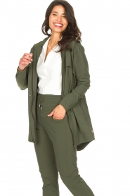 D-ETOILES CASIOPE |  Travelwear parka Avocat | green  | Picture 2