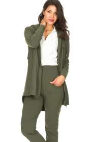 D-ETOILES CASIOPE |  Travelwear parka Avocat | green  | Picture 4
