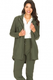 D-ETOILES CASIOPE |  Travelwear parka Avocat | green  | Picture 5