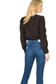 Second Female :  Crêpe blouse with puff sleeves Jasmin | black - img6