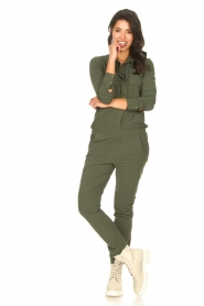 D-ETOILES CASIOPE |  Travelwear jumpsuit Astro | green  | Picture 4