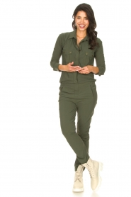 D-ETOILES CASIOPE |  Travelwear jumpsuit Astro | green  | Picture 2