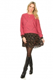 Fracomina |  Knitted sweater Levy | pink  | Picture 3