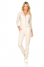 D-ETOILES CASIOPE |  Travelwear jumpsuit Astro | cement  | Picture 4