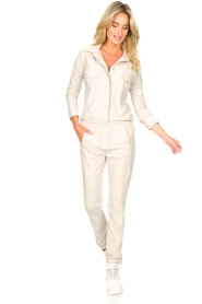 D-ETOILES CASIOPE |  Travelwear jumpsuit Astro | cement  | Picture 5