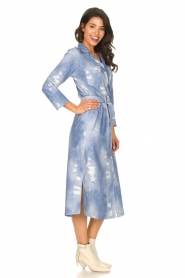 D-ETOILES CASIOPE |  Travelwear printed midi dress Amber | blue  | Picture 5