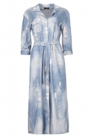 D-ETOILES CASIOPE |  Travelwear printed midi dress Amber | blue  | Picture 1