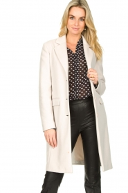 Fracomina |  Classic coat Aimee | natural  | Picture 4