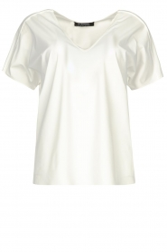 D-ETOILES CASIOPE |  Travelwear T-shirt with v-neck Alizée | white  | Picture 1