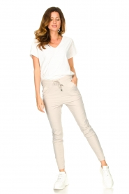 D-ETOILES CASIOPE |  Travelwear T-shirt with v-neck Alizée | white  | Picture 3