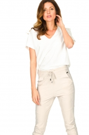 D-ETOILES CASIOPE |  Travelwear T-shirt with v-neck Alizée | white  | Picture 2