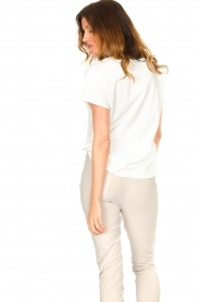 D-ETOILES CASIOPE |  Travelwear T-shirt with v-neck Alizée | white  | Picture 6