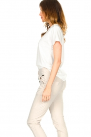 D-ETOILES CASIOPE |  Travelwear T-shirt with v-neck Alizée | white  | Picture 5