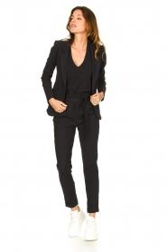 D-ETOILES CASIOPE | Travelwear T-shirt met v-hals Alizée | zwart   | Afbeelding 3